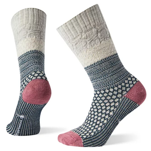 Women's Popcorn Cable Socks - Ash