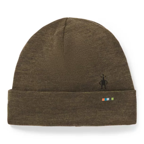 Merino 250 Cuffed Beanie - Military Olive Heather