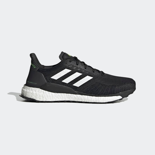 Men's Solar Boost 19 Running Shoes - Core Black / Cloud White / Signal Green