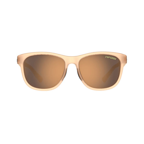 Swank Polarized Sunglasses - Satin Crystal Brown / Brown Polarized