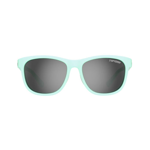 Swank Polarized Sunglasses - Satin Crystal Teal / Smoke Polarized