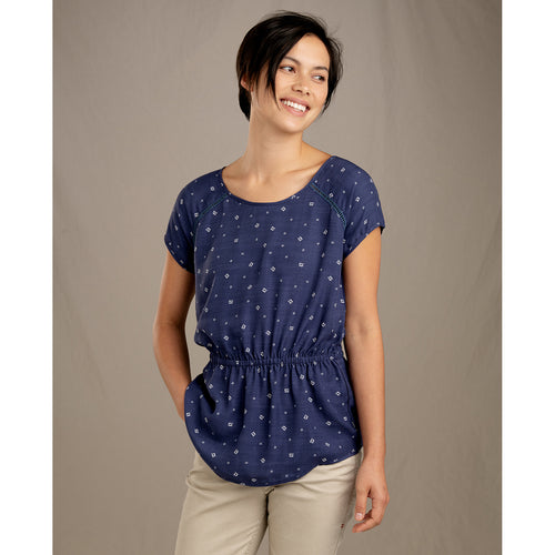 Women's Hillrose Tee - Blue Shadow Fern Print
