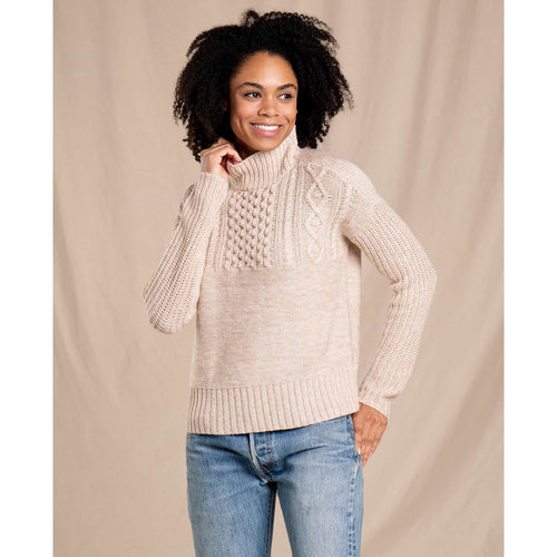 Women's Tupelo Cable Sweater - Oatmeal