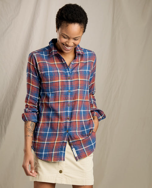 Womens Cairn Long Sleeve Shirt -Redwood