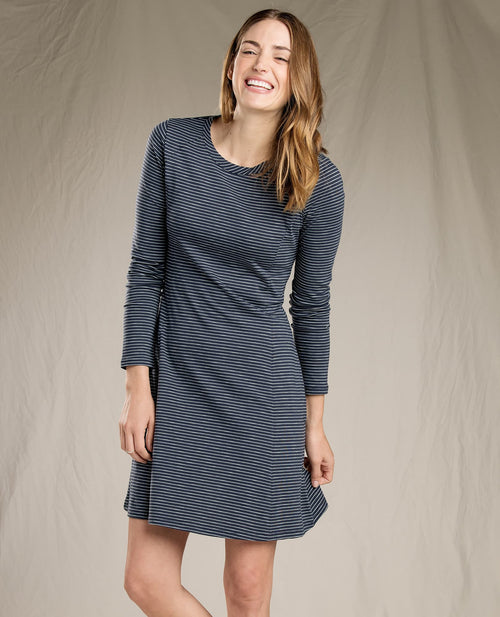 Womens Windmere Dress -Nightsky Stripe