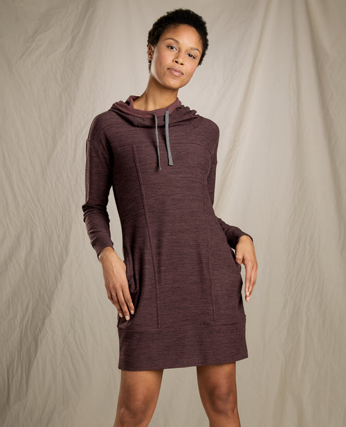 Women's Intermosso Hooded Dress -Huckleberry