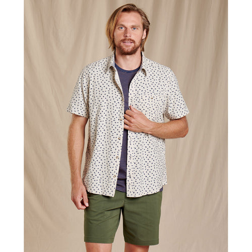 Men's Mattock II Short Sleeve Shirt - Salt Cactus Spine Print