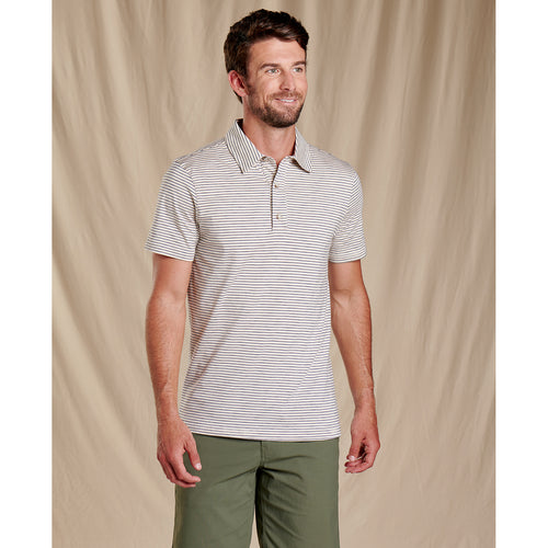 Men's Tempo Short Sleeve Polo Shirt - Salt Stripe