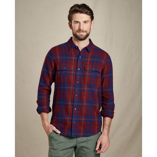 Men's Indigo Flannel Slim Shirt - Port Window Pane