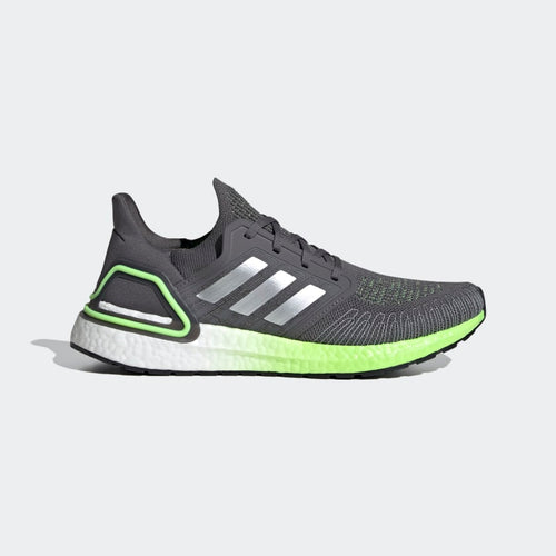 Men's Ultraboost 20 Running Shoe - Grey Five/Silver Metallic/Signal Green