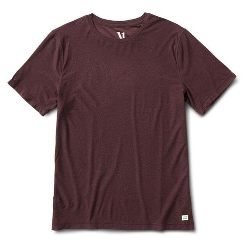 Men's Strato Tech Tee - Oxblood Heather