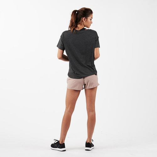 Women's Lux Performance Tee - Charcoal Heather