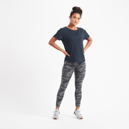 Women's Lux Performance Tee - Ink Heather