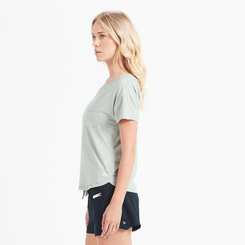 Women's Lux Performance Tee - Sage Heather