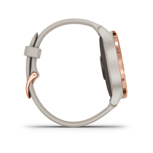 Venu GPS Smartwatches - Rose Gold Stainless Steel Bezel/Light Sand Case and Silicone Band