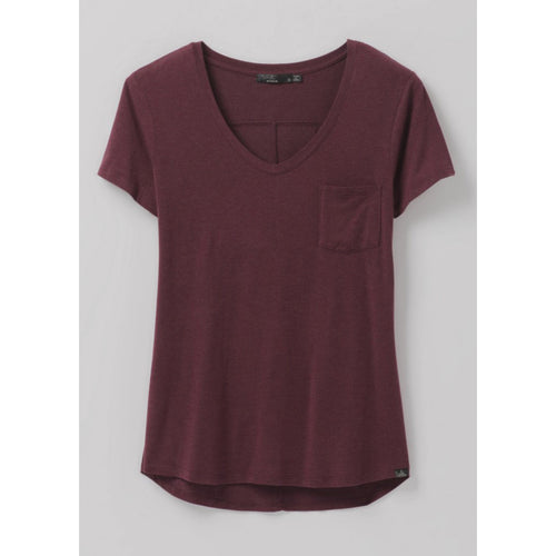 Women's Foundation Short Sleeve Vneck Shirt - Raisin Heather