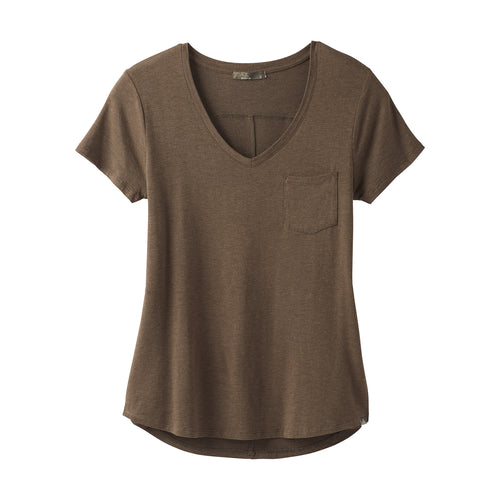 Women's Foundation Short Sleeve V-Neck Top - Slate Heather