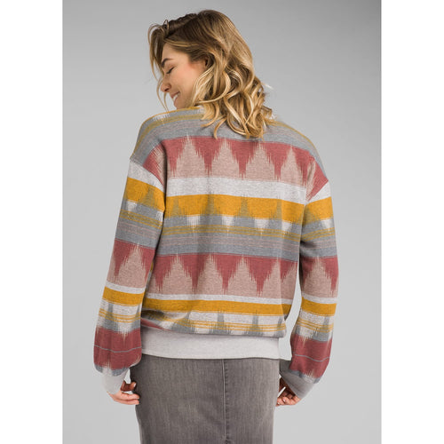 Women's Cozy Up Printed Sweatshirt - Dark Mauve Eldorado