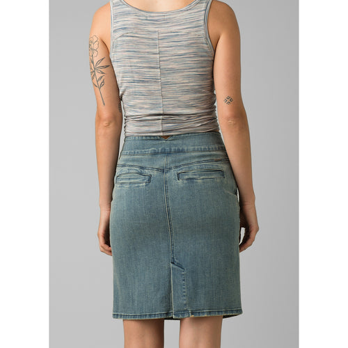 Women's Aubrey Denim Skirt - Dusted Blue