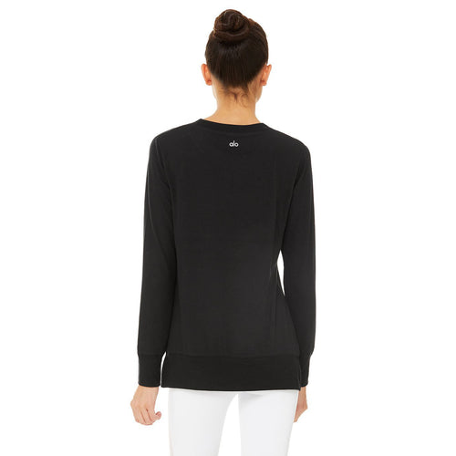 Women's Glimpse Long Sleeve Top - Black
