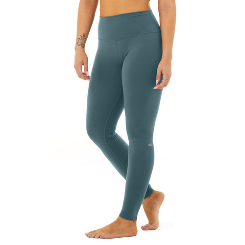 Women's High-Waist Airbrush Legging - Deep Jade