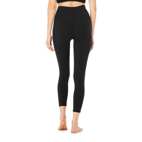 Women's 7/8 High-Waist Checkpoint Leg - Black