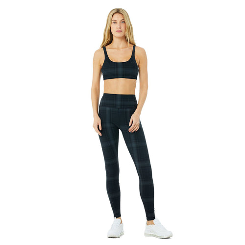 Women's Vapor Legacy Plaid Bra - Black/Anthracite