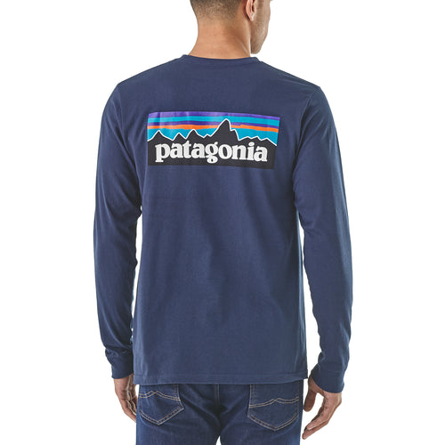 Men's Long-Sleeved P-6 Logo Responsibili-Tee®- Classic Navy
