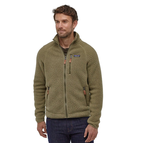 Men's Retro Pile Jacket-Sage Khaki