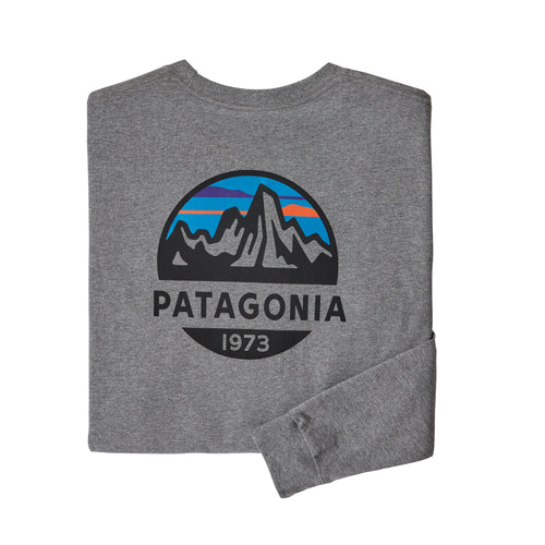 Men's Fitz Roy Scope Responsibili-Tee Long Sleeve - Gravel Heather
