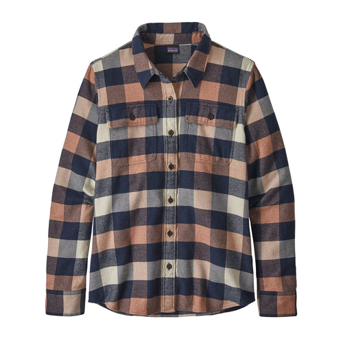 Women's Long-Sleeved Fjord Flannel Shirt - Up River: Century Pink