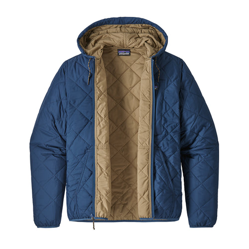 Men's Diamond Quilted Bomber Jacket - Owl Brown