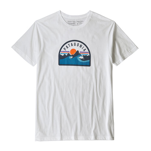 Men's Boardie Badge Organic T-Shirt - White