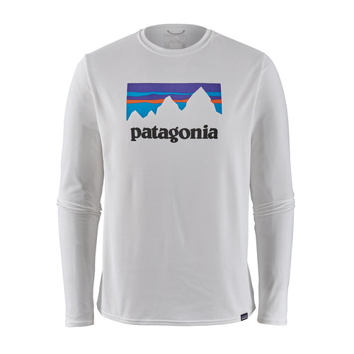 Men's  Long-Sleeved Capilene® Cool Daily Graphic Shirt - Shop Sticker: White