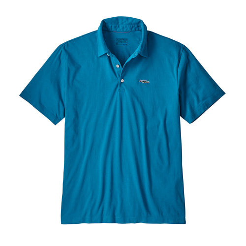 Men's Polo - Trout Fitz Roy- Balkan Blue