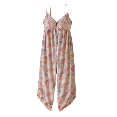 Women's Lost Wildflower Jumpsuit - Jurassic Ferns: Pelican