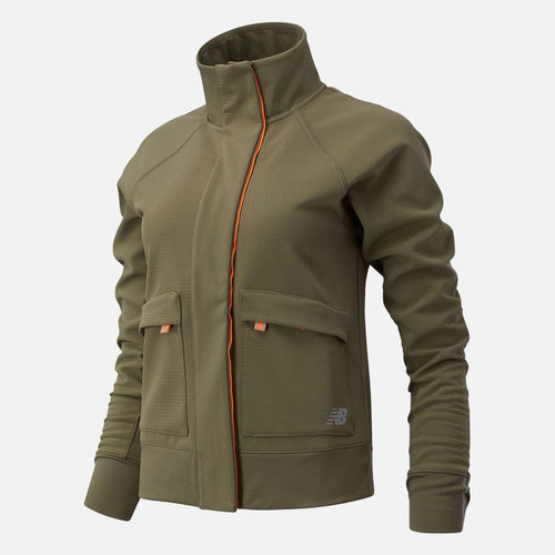 Women's Impact Run Winter Jacket - Nettle Green