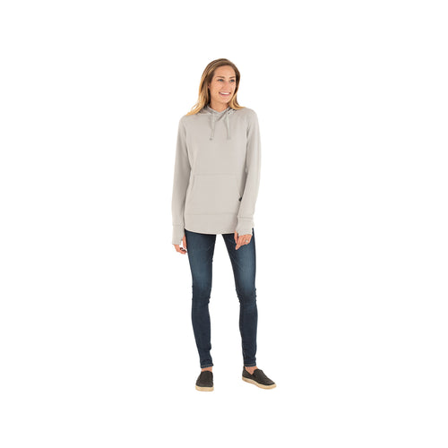 Women's Bamboo Fleece Pullover Hoody - Heather Ash