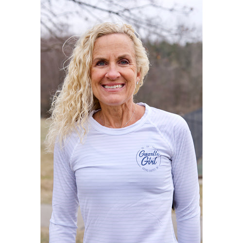 Women's Gazelle Girl Circle Q Speed Seasonless Long Sleeve - White Multi