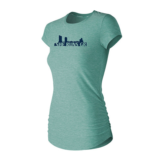 Women's Gazelle Girl Transform Perfect Tee - Mineral Sage