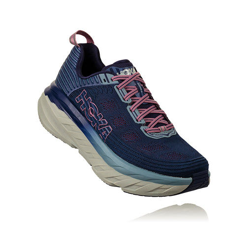 Women's Bondi 6 Running Shoe (WIDE-D)-Marlin/Blue Ribbon