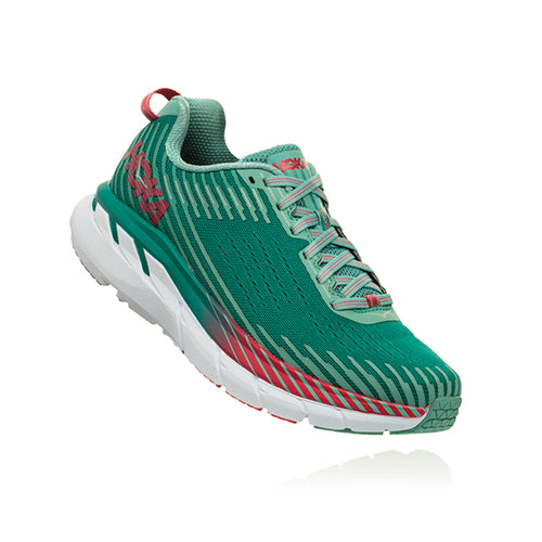 Women's Clifton 5 Running Shoe - Green-Blue Slate/Canton