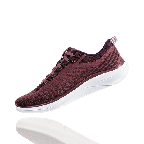 Women's Hupana Flow Running Shoe - Rose Brown/Deep Mahogany