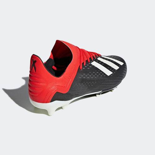 Junior X 18.1 Firm Ground Cleat - Core Black / Cloud White / Active Red