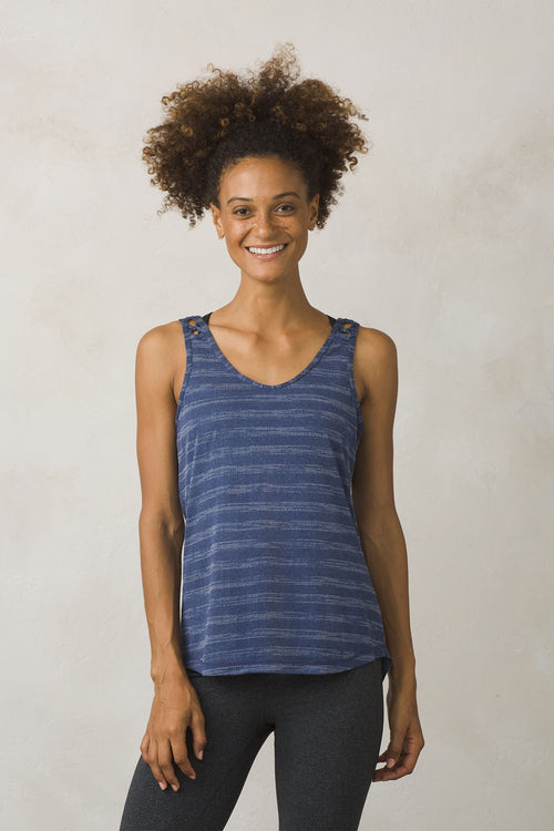 Womens Serene Tank -Equinox Blue Stripe