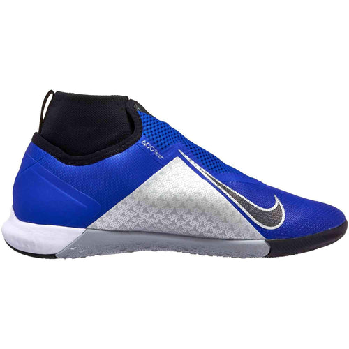 React Phantom Vision Pro Dynamic Fit Indoor Soccer Cleat - Racer Blue/Black/Metallic Silver