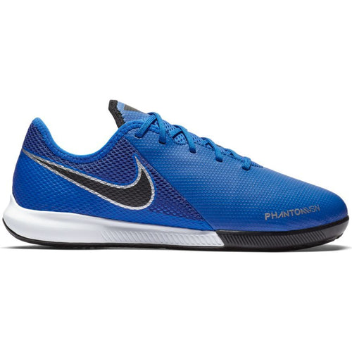 Junior Phantom Vision Academy Indoor Cleat - Racer Blue/Metallic Silver/Black/Volt