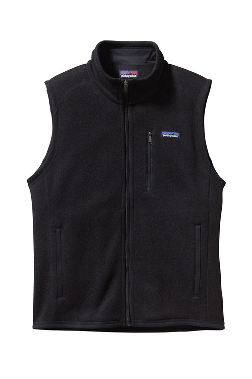 Men's Better Sweater® Fleece Vest- Black
