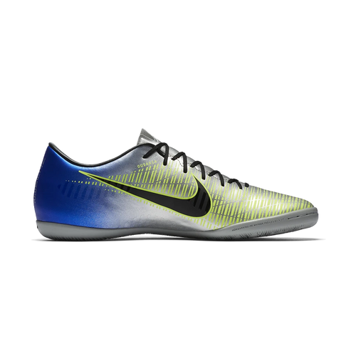 Neymar Mercurial Victory VI Indoor Soccer Cleat - Racer Blue/Black/Chrome/Volt