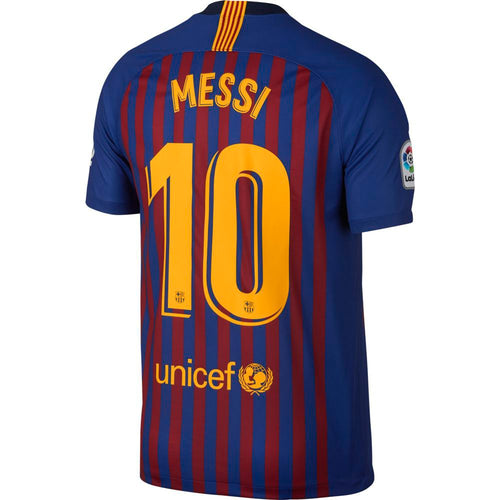 FC Barcelona Messi Home 2018/19 Stadium Jersey - Deep Royal Blue/Deep Royal/University Gold